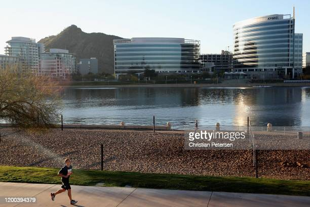 Participants compete in the 5K Rock 'n' Roll Arizona on January 18, 2020 in Tempe, Arizona.