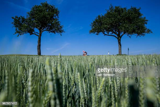 Participants compete in the cycle leg of the race during IRONMAN 703 St Polten on May 27 2018 in Sankt Polten Austria