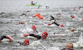 bolton england participants compete swim leg