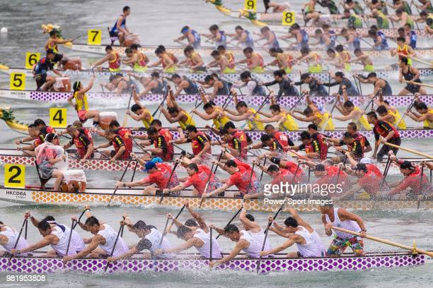 Participants competing during the Hong Kong Dragon Carnival on June 23 2018 in Hong Kong Hong Kong