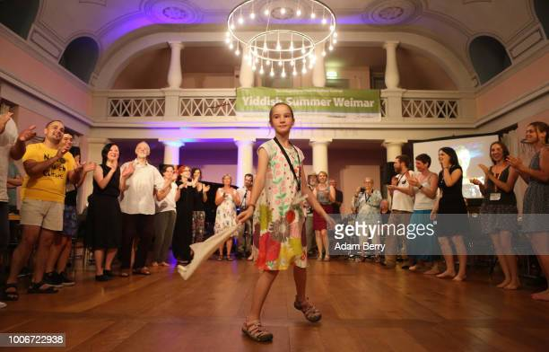 Participants dance during Yiddish Summer Weimar on July 27 2018 in Weimar Germany The annual fiveweek summer institute and festival attracting...