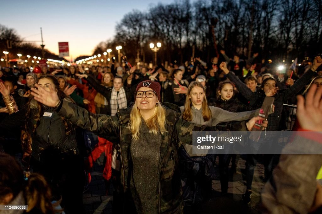 "DEU: ""One Billion Rising"" Protest Dance In Berlin"