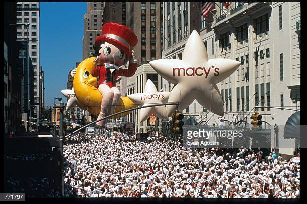 Participants dance through the street August 20, 1995 in New York City. Macy's prepares to outdo itself again in its Seventeenth Annual Tap-O-Mania...