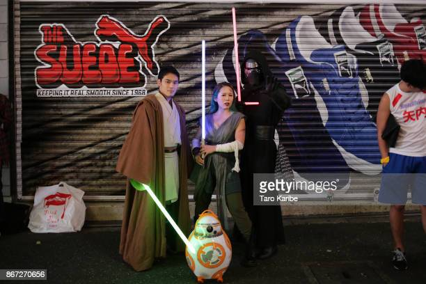 Participants dress up as Star Wars characters on the Halloween weekend in Shibuya district on October 28 2017 in Tokyo Japan