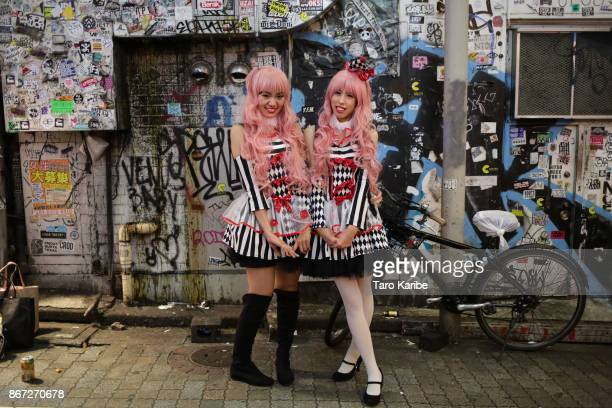Participants dress up on the Halloween weekend in Shibuya district on October 28 2017 in Tokyo Japan
