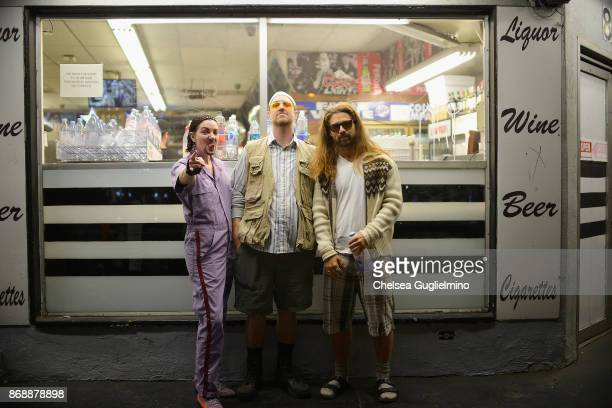 Participants dressed as characters from The Big Lebowski seen at the West Hollywood Halloween Carnaval on October 31 2017 in West Hollywood California