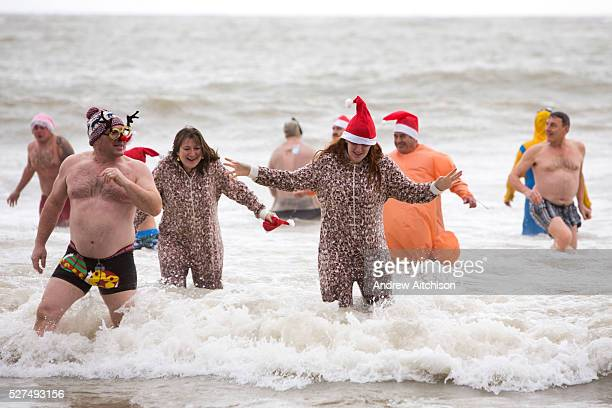 Participants dressed up for Folkestone Lions Club Boxing Day Dip An annual fancy dress fundraising event where all sorts of amusing costumes and...