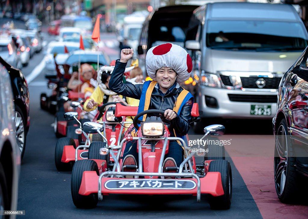 Real Mario Kart In Tokyo : News Photo