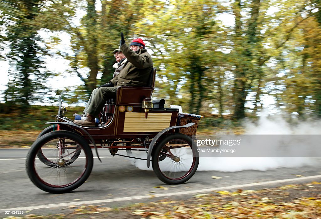 Participants drive through West Sussex during the 120th London to Brighton Veteran Car Run on November 6, 2016 in Staplefield, England. Over 400 pre-1905 manufactured vehicles take part in the annual run from London to Brighton to commemorate the Emancipation Run of November 1896 which celebrated the raising of the speed limit from 4mph to 14 mph.