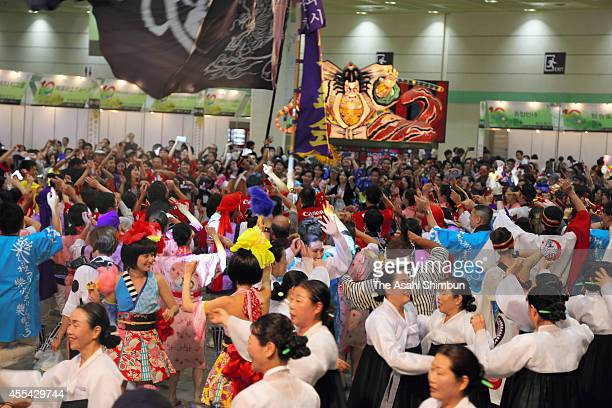 Participants during the 10th JapanKorea Festival at COEX on September 14 2014 in Seoul South Korea