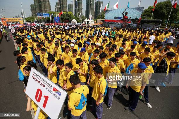 Participants during the 2km Mass Race Walk prior to IAAF World Race Walking Team Championships Taicang 2018 on May 4, 2018 in Taicang, China.