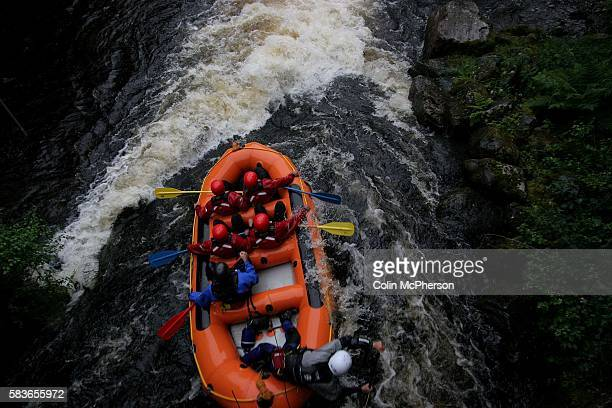 Participants enjoy navigating the rapids at the Tryweryn white water rafting and canoeing centre at Bala north Wales It was discovered that two...