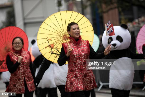 Participants from China perform in the Lord Mayor's Show on November 11 2017 in London England The Lord Mayor's Show now in its 802nd year makes its...