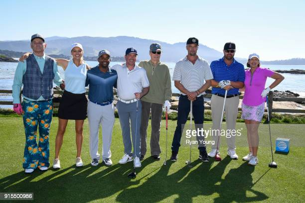 Participants from left to right Bill Murray Kelly Rohrbach Alfonso Ribeiro Clay Walker Clint Eastwood Josh Duhamel Toby Keith and Julie Inkster in...