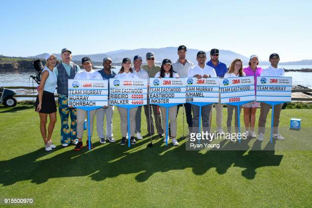 Participants from left to right Kelly Rohrbach Bill Murray Alfonso Ribeiro Clay Walker Clint Eastwood Josh Duhamel Toby Keith and Julie Inkster in...