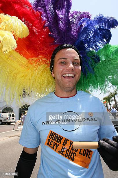 Participants from Universal Studio at the Gay Pride Parade on Santa Monica Boulvard on June 8 2008 in West Hollywood California