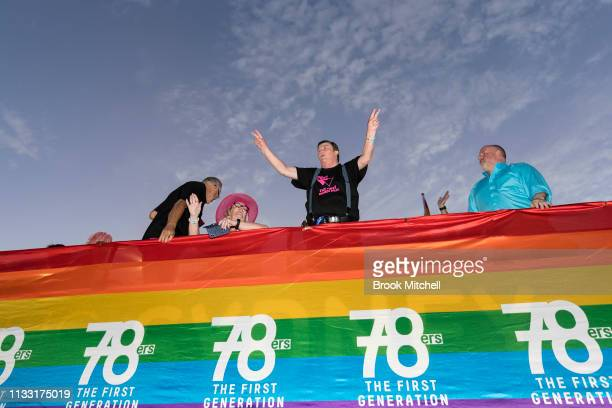 Participants get in the spirit during the 2019 Sydney Gay Lesbian Mardi Gras Parade on March 02 2019 in Sydney Australia The Sydney Mardi Gras parade...