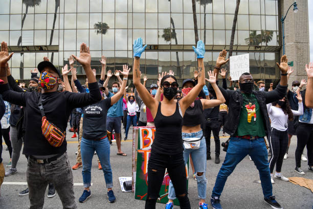CA: Black Artists Unite And Protest To Support #BlackLivesMatter Movement In Los Angeles