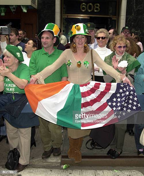 Participants in the 242nd St Patricks's Day Parade