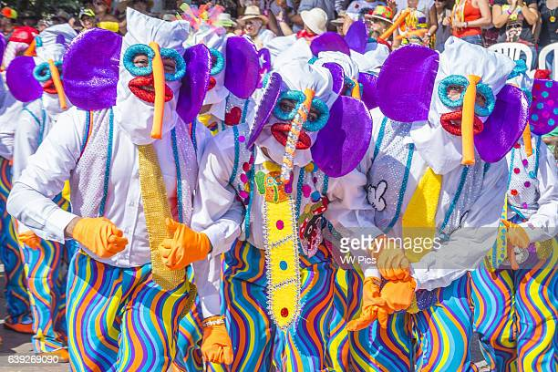 Participants in the Barranquilla Carnival in Barranquilla Colombia , Barranquilla Carnival is one of the biggest carnival in the world.
