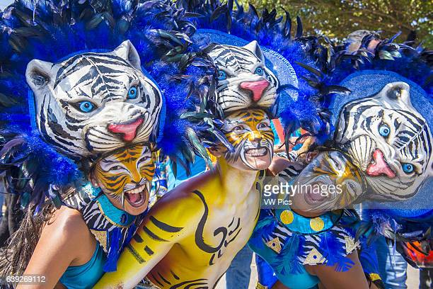 Participants in the Barranquilla Carnival in Barranquilla Colombia Barranquilla Carnival is one of the biggest carnival in the world