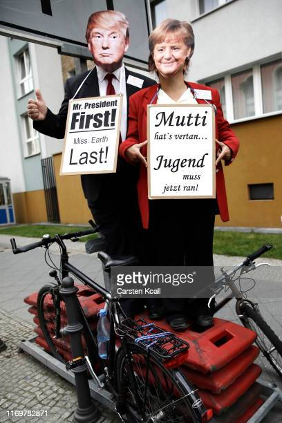Participants in the Fridays For Future movement protest during a nationwide climate change action day on September 20, 2019 in Berlin, Germany....