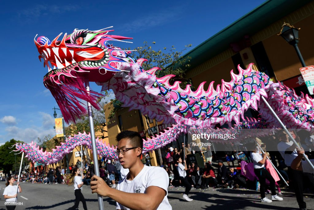 participants in the golden dragon parade celebrate the chinese lunar new year in los angeles - Chinese New Year Los Angeles