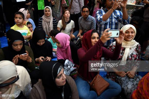 Participants in the Iftar at Trump Tower event of the M Power Change social organization and the New York State Immigrant Action Fund to bring New...