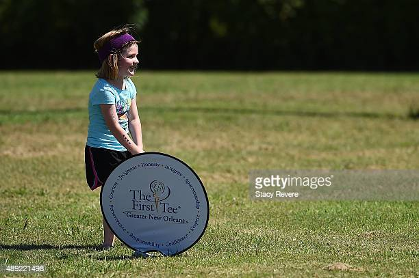 Participants in the New Orleans Day of Sport with Kelly Clark take part in activities at Joe Brown Park on September 19 2015 in New Orleans Louisiana