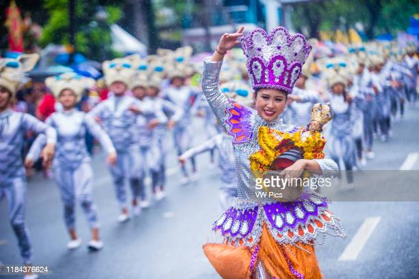 Participants in the Sinulog festival in Cebu city Philippines on January 20 2019 The Sinulog is an annual religious celebrations in the Philippines