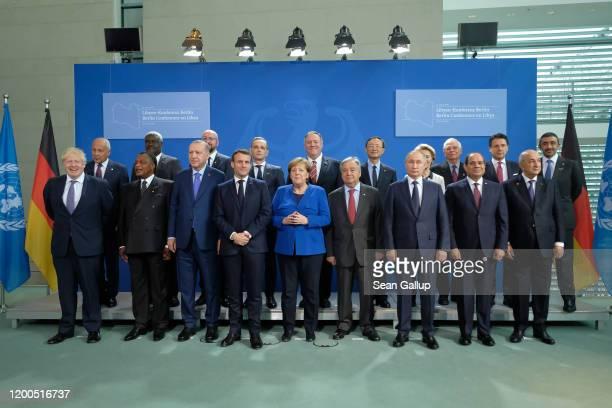 Participants including British Prime Minister Boris Johnson Turkish President Recep Tayyip Erdogan French President Emmanuel Macron German Chancellor...