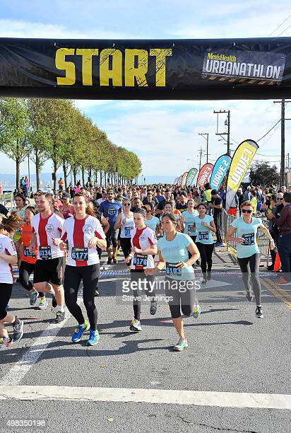 Participants join Ultramarathoner Dean Karnazes in the 10th Annual URBANATHLON featuring Seiko Six Star and Propel Electrolyte Water at ATT Park on...