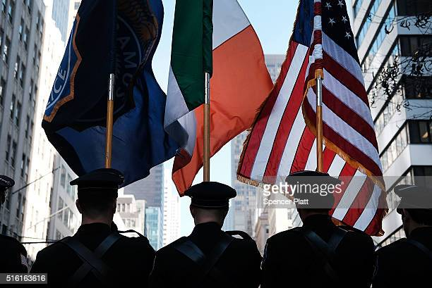 Participants march in the annual St Patrick's Day parade one of the largest and oldest in the world on March 17 2016 in New York City Now that a ban...
