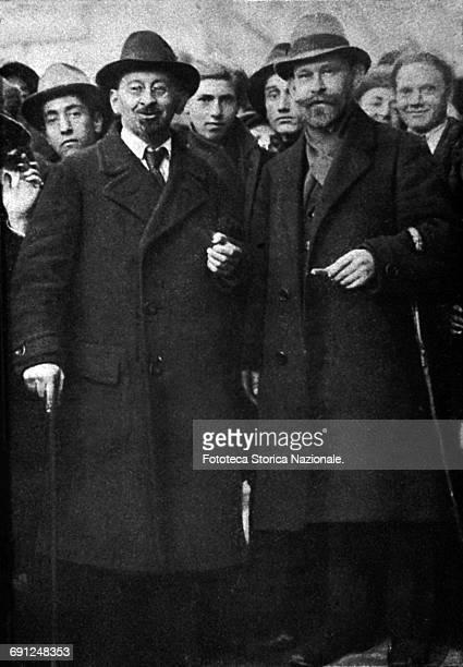 Participants of Leghorn Socialist Congress: Kurt Rosenfeld and David Dittmann, representatives of the German Independent Socialists. Photograph,...