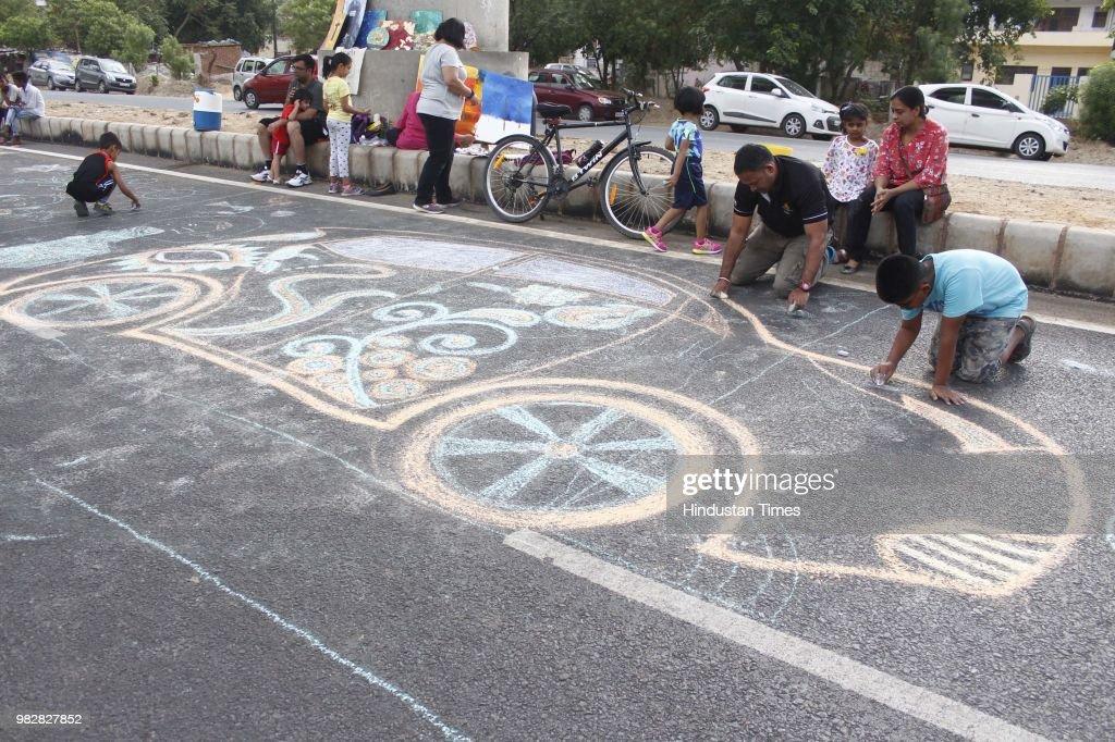 People Participate During Raahgiri Day In Gurugram