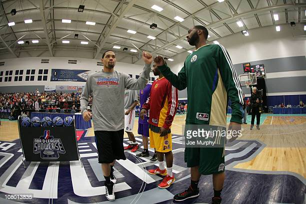 Participants of the 3 Point Shooting Contest are announced during the 2011 NBA DLeague Showcase Slam Dunk and 3 Point Shooting Contest during the...