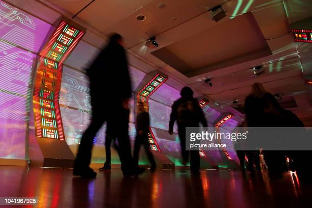 Participants of the 31 Chaos Communication Congress walk along the Coongress Centre Hamburg Germany 27 December 2014 From 27 December 2014 to 30...