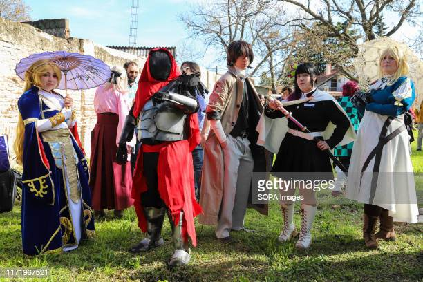 Participants of the Cosplay show seen during the Japan Fest 2019 in Montevideo. Every year, the Japanese Embassy in Uruguay organizes the Japan...