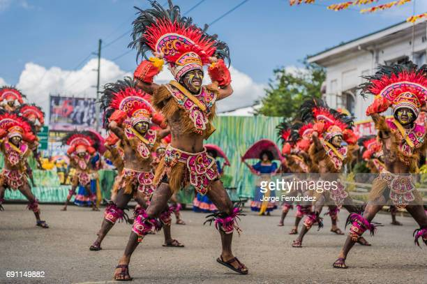 Participants of the dance contest during the celebration of Dinagyang in homage to The Santo Niño Philippines Participants of the dance contest...
