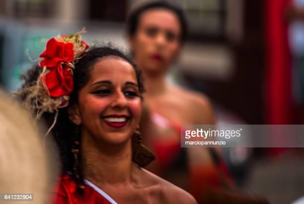 participants of the maracatu group odé da mata stage the maracatu - arte stock photos and pictures
