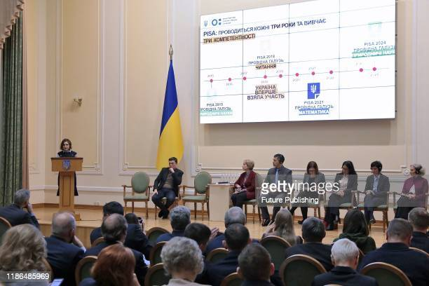 Participants of the presentation of PISA-2018 national and international reports, Kyiv, capital of Ukraine- PHOTOGRAPH BY Ukrinform / Barcroft Media