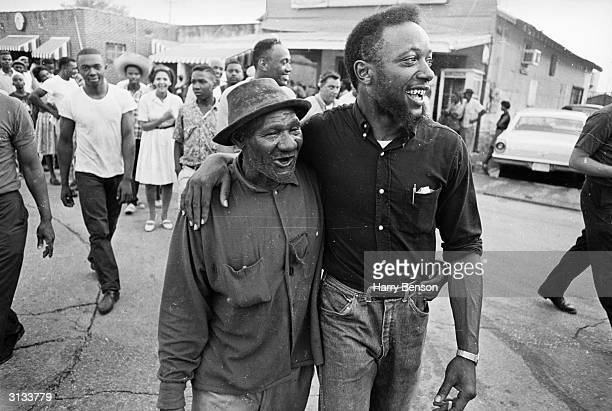 Participants on the Meredith Mississippi March near the town of Canton June 1966 The march began with civil rights campaigner James Meredith setting...