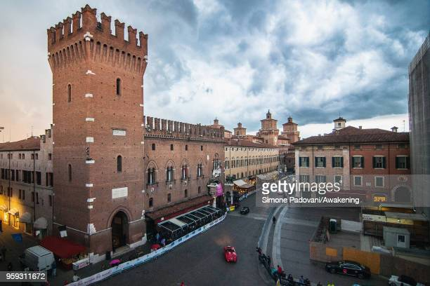 Participants pass through the city centre of Ferrara during the first day of the Mille Miglia on May 16, 2018 in Ferrara, Italy. The 2018 edition of...