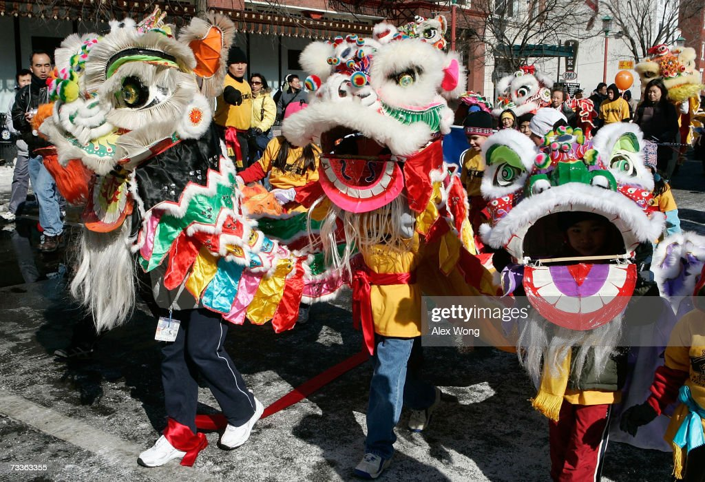 participants perform lion dance during the annual chinese new year parade february 18 2007 in - Chinese New Year 2007
