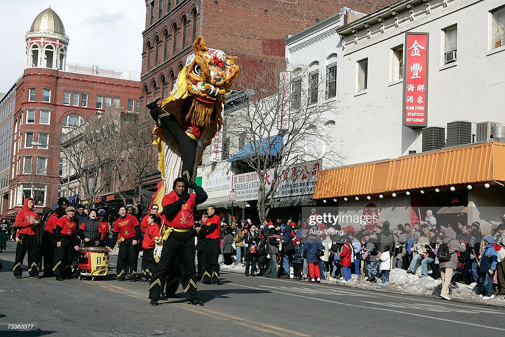 participants perform lion dance during the annual chinese new year parade february 18 2007 in - Chinese New Year Dc