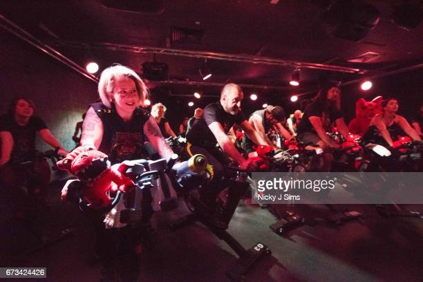 Participants ride as the Download Festival hosts a heavy metal spin