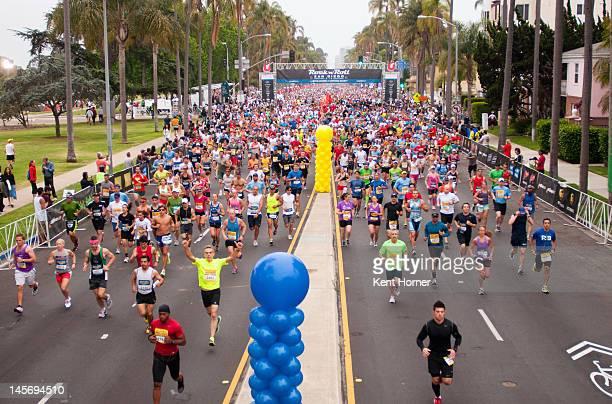 Participants run along 6th Avenue near Balboa Park in the 15th annual Rock 'n' Roll Marathon on June 3, 2012 in San Diego, California.