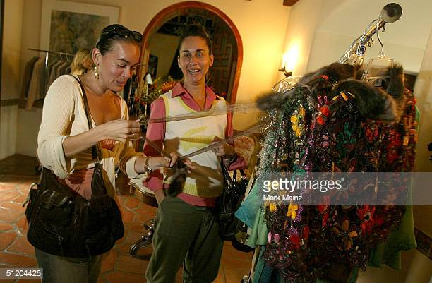 Participants sample the fasions at the Nina Morris Trunk Show at Patric Reeves' home August 21 2004 in Los Feliz California