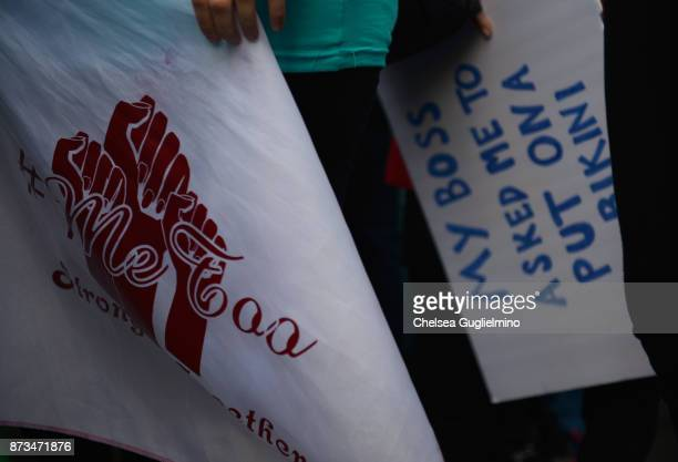 Participants seen at Take Back The Workplace March And #MeToo Survivors March Rally on November 12 2017 in Hollywood California