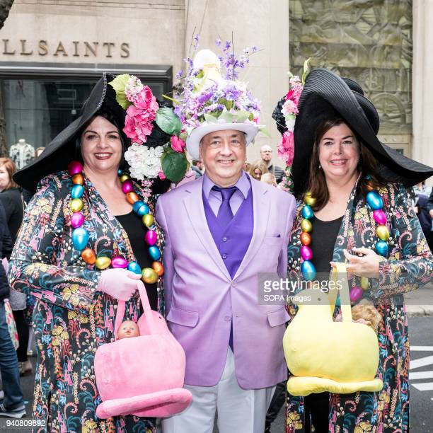 Participants seen wearing colourful bonnet during the parade. The Easter Bonnet parade hosted on Fifth Avenue in midtown Manhattan.